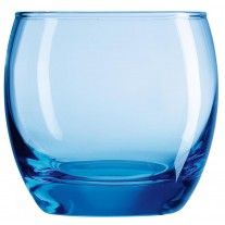Arcoroc ARC C9688 Salto Ice Blue Whiskyglas, 320 ml, Glas, transparent, 6 Stück