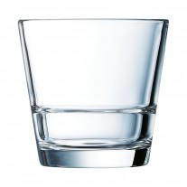 Arcoroc ARC H5647 Stack Up Whiskyglas, 210 ml, Glas, transparent, 6 Stück