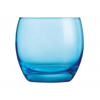 Arcoroc ARC J8482 Salto Color Studio Blue Whiskyglas, 320 ml, Glas, blau, 6 Stück