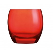 Arcoroc ARC J8486 Salto Color Studio Red Whiskyglas, 320 ml, Glas, rot, 6 Stück