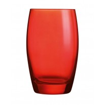 Arcoroc ARC J8493 Salto Color Studio Red Longdrinkglas, 350 ml, Glas, rot, 6 Stück