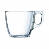 Arcoroc ARC L3692 Voluto Obertasse, 220 ml, Glas, transparent, 6 Stück