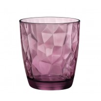 Bormioli Rocco 302258 Diamond Rock Purple Whiskyglas, 390 ml, Glas, lila, 6 Stück