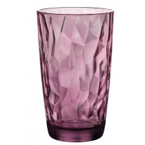 Bormioli Rocco 350270 Diamond Rock Purple Longdrinkglas, 470 ml, Glas, lila, 6 Stück