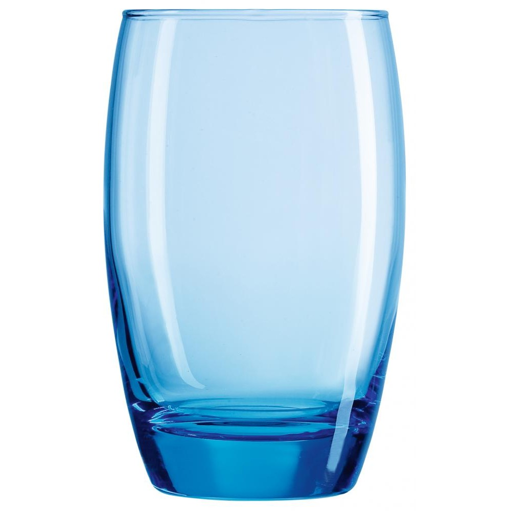 Arcoroc ARC C9687 Salto Ice Blue Longdrinkglas, 350 ml, Glas, transparent, 6 Stück